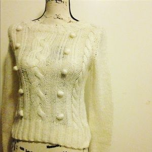 H&M divided ivory sweater